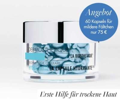 Angebot: Erste Hilfe für die trockene Haut mit Fältchen mit La Capsule Hydratante