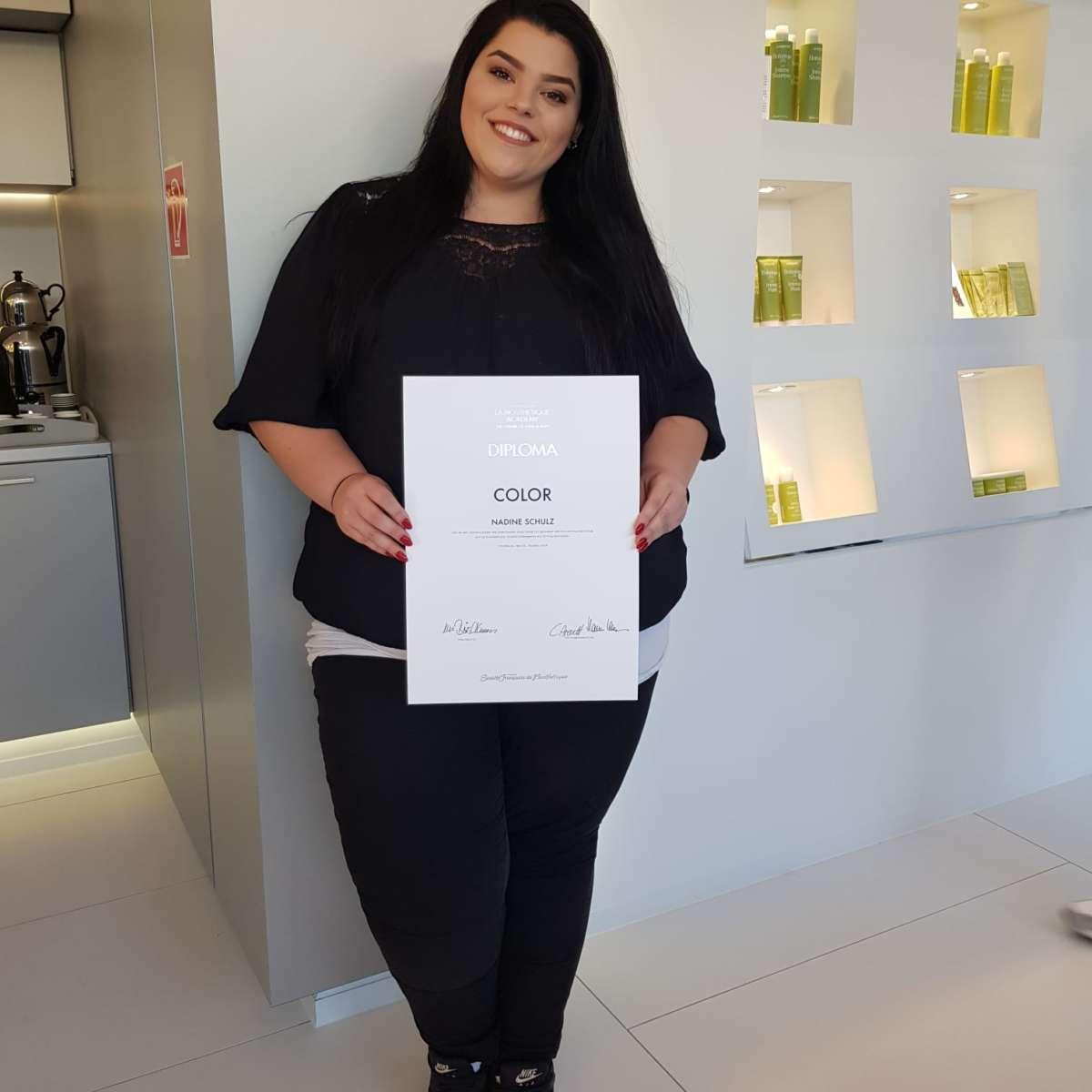 Nadine Schulz La Biosthetique Color Diploma